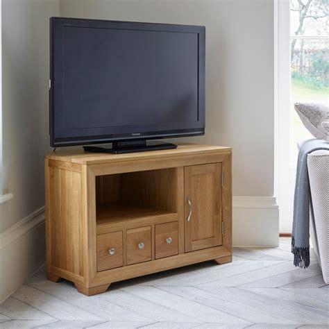 small corner tv cabinet bevel small corner tv cabinet in solid oak oak furniture