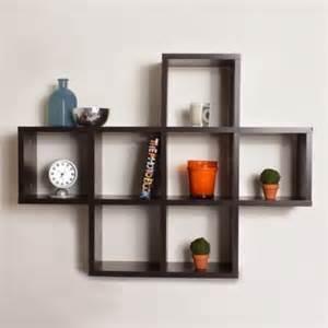 decorative 7 cubby wall shelf espresso spice up the