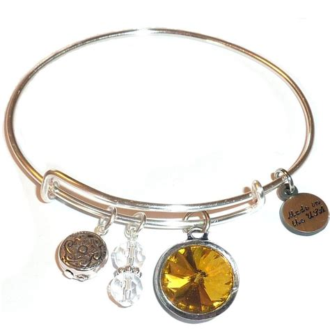 november birthstone bangle bracelet november birth stone