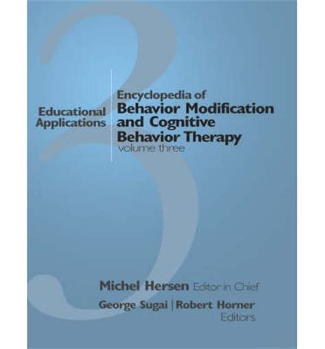 Behavior Modification Therapy by Encyclopedia Of Behavior Modification And Cognitive