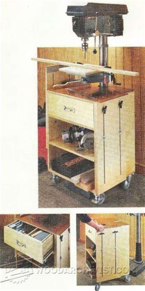 mobile drill press stand plans woodarchivist