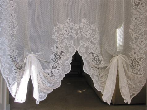 Vintage Lace Curtains Reduced Vintage Lace Curtain White Baroque Floral Lace Curtain Swa