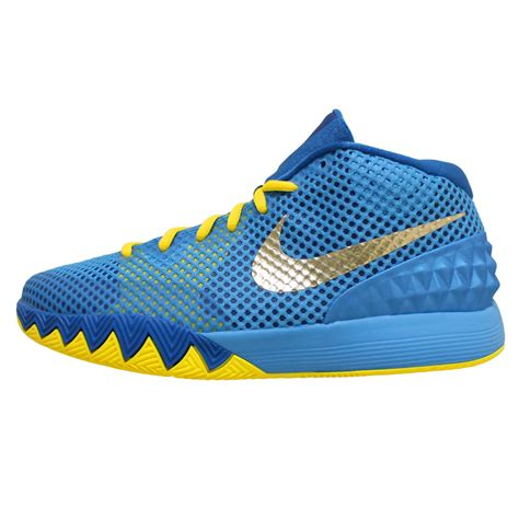 kyrie irving basketball shoes nike kyrie 1 gs kyrie irving cereal blue gold youth boys