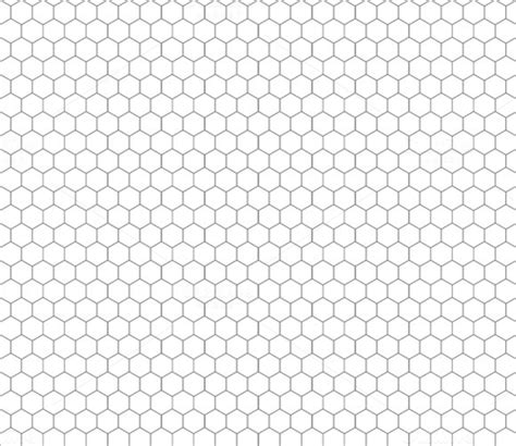 hexagonal pattern grid gray hexagon grid on white patterns on creative market