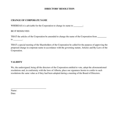 board resolutions template directors resolution sle template word and pdf