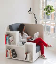 Armchair Reading Design Ideas Reading Chair Seat With Built In Book Magazine Shelves