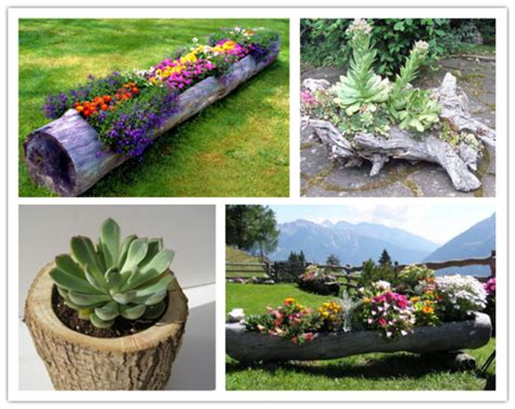 How To Make A Beautiful Garden | how to make a beautiful diy log garden planter step by