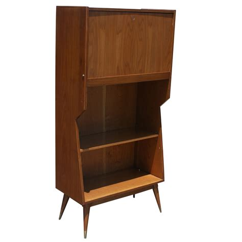 Danish Modern Walnut Secretary Desk Ebay Secretarys Desk