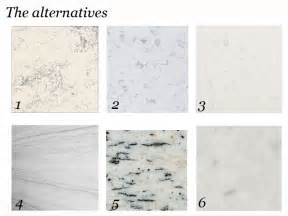 Alternative To Quartz Countertops by On The Prowl Alternatives To White Marble Countertops