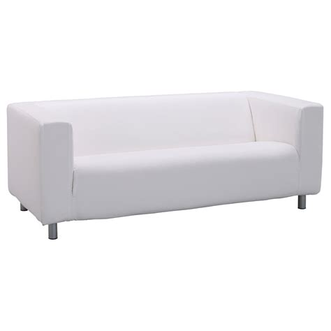 Klippan Cover Two Seat Sofa Alme White Ikea White Sofa Cover