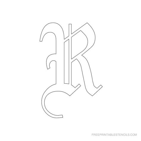 printable old english alphabet stencil d crafts printable old english alphabet stencil r crafts