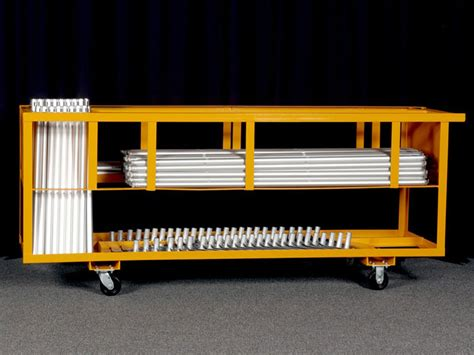 pipe and drape cart trade show storage cart 25 booths unique expo pipe and