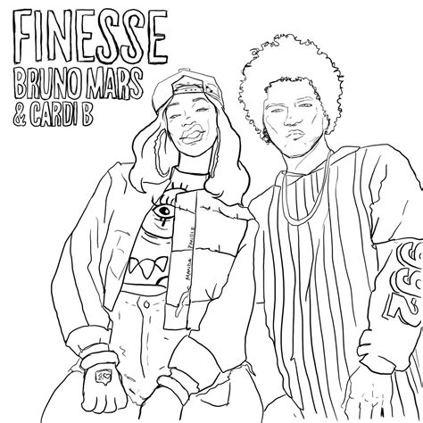 Cardi B Coloring Pages by Manda Pandie On Quot Finesse Free Coloring Page