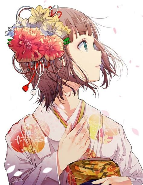anime flower skin rocketdock com anime anime girl and flowers image she pinterest