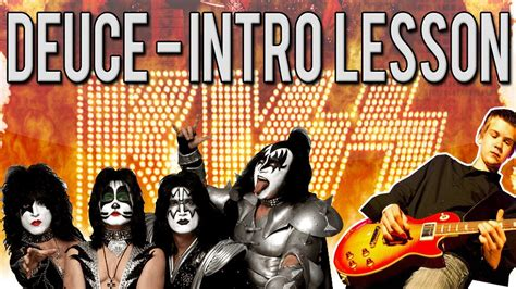 kiss deuce tutorial kiss deuce intro guitar lesson with tabs youtube