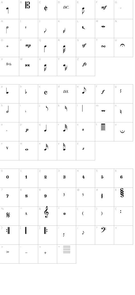 musical notes font  font
