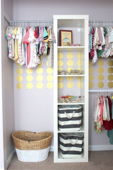 Nursery Wardrobe Closet by Clever Nursery Organization Ideas Project Nursery