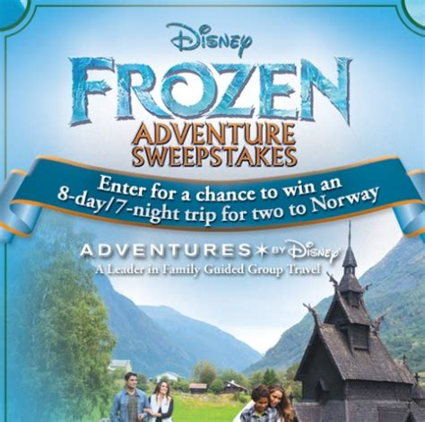 Disney World Vacation Giveaway 2014 - disney frozen adventure sweepstakes sweeps maniac