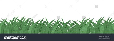 Paper Grass - green grass texture made by recycle stock illustration