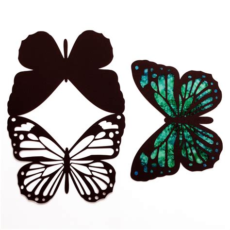 stained glass butterfly l silhouette uk faux stained glass butterfly cards