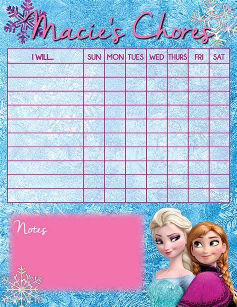 printable frozen sticker chart 7 best images of disney free printable chore charts