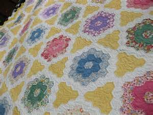 antique quilts grandmothers flower garden feed sack