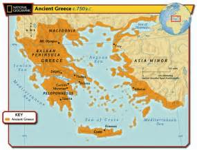 Map Of Classical Greece by The Persians Amp Greeks