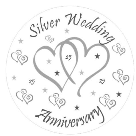 Silver Anniversary Wedding by Buy Silver Wedding Anniversary Cake Topper Personalised