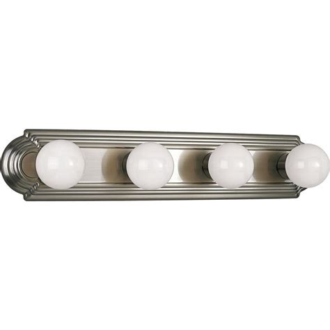 progress lighting 4 light progress lighting 4 light brushed nickel vanity fixture