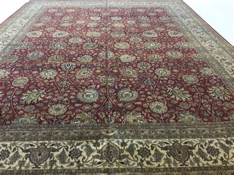 Oversized Area Rugs 12 X 15 Beige Tabriz Area Rug Oversized Knotted Floral Ebay
