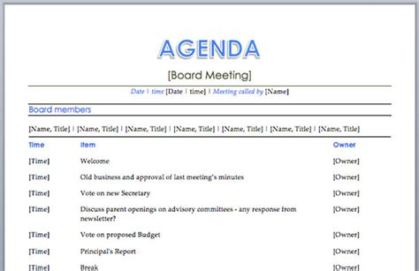 best agendas 10 best images of quality meeting agenda template sle