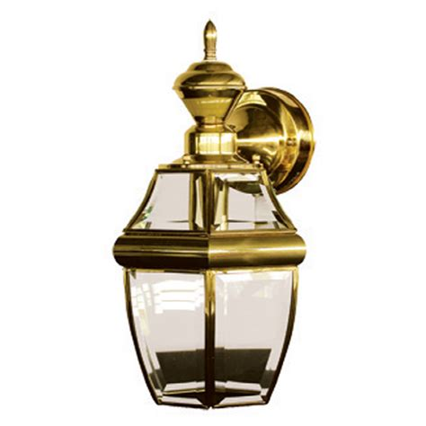 shop portfolio brass and gold motion activated outdoor