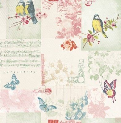 songbird 11260 albany wallpapers a romantic shabby chic patchwork design with songbirds