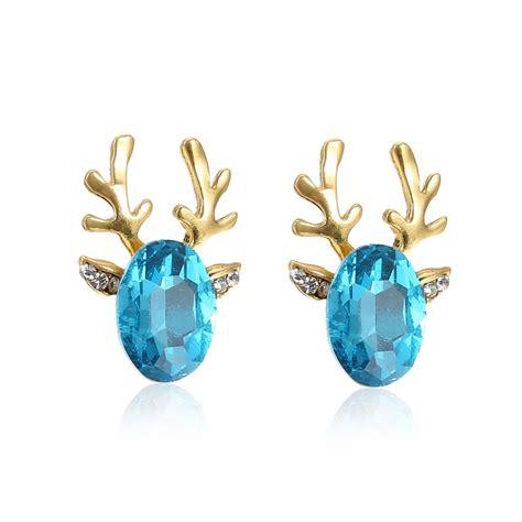 big sale gift blue rhinestone stud