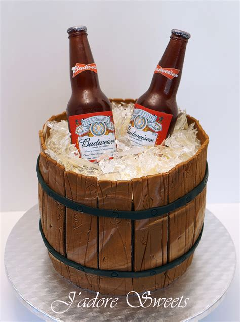 beer barrel cake 3d sugar beer bottle in a barrel cake the sugar beer