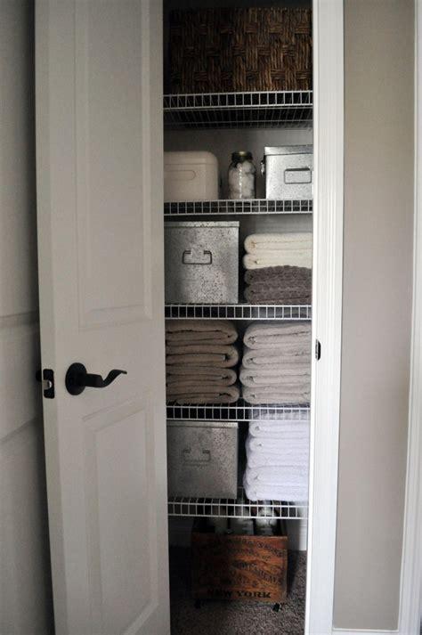 beautifully organized linen closets  happy housie
