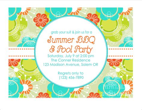 party invitation design ideas summer party invitations theruntime com