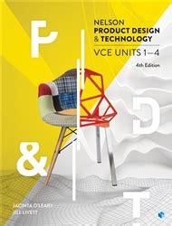 nelson product design  technology vce units