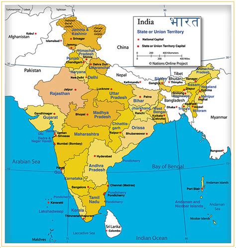 indian states indian states and union territories maps indian states
