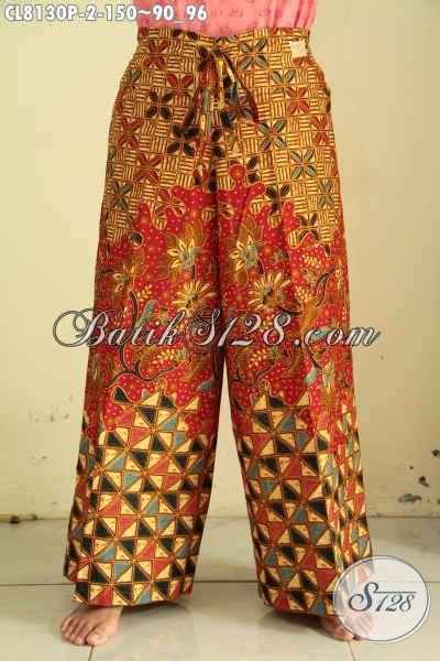 Kulot Jersey All Size model celana kulot batik di lengkapi kantong dan tali busana batik simple dan modis buat jalan