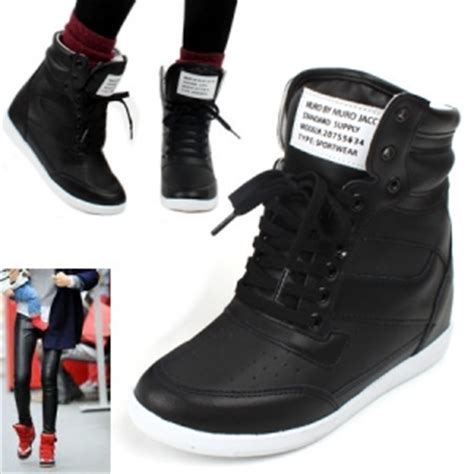 Sneakers Wedges Wanita 5cm Include colorful wedge sneakers ankle high top womens