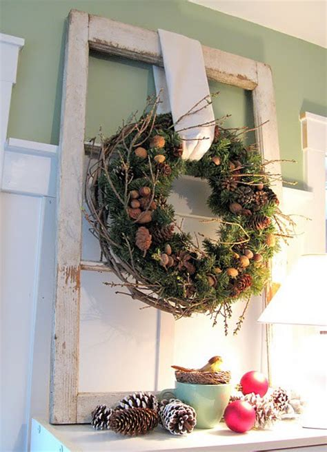 cool rustic christmas decorations  wreaths digsdigs