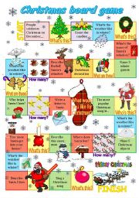 printable board games for young learners english worksheet christmas board game 2011