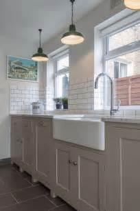 Kitchen Belfast Kitchen With Belfast Sink Units And Grey Marble