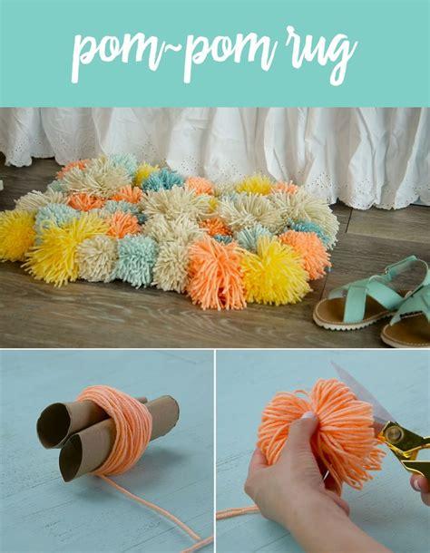 Diy Locker Rug by Diy Pom Pom Rug Pom Pom Rug Craft And Diys