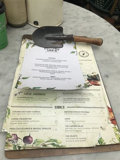 Potting Shed Menu by The Grounds Of Alexandria Sydney By Mbugua