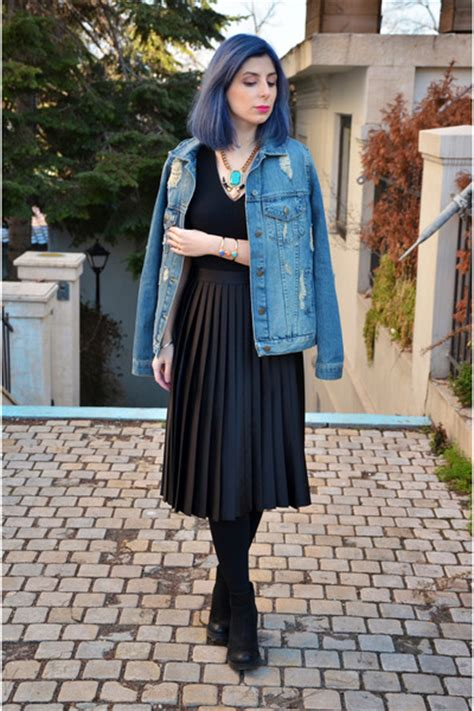 Jaket Oversized Bershka blue bershka jackets black zara skirts quot oversized denim jacket quot by lauratenshi chictopia