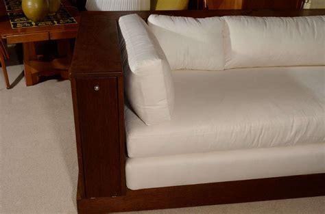 hidden sofa walnut sofa with hidden storage by ilonka karasz at 1stdibs