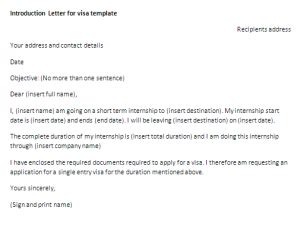 Introduction Letter From Employer To Embassy sle introduction letter for visa application