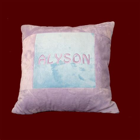 Personalized Pillows by Personalized Minky Pillow Large Pillows Smocked Treasures
